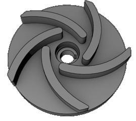 Корпус и колесо рабочее к насосу ПР-63