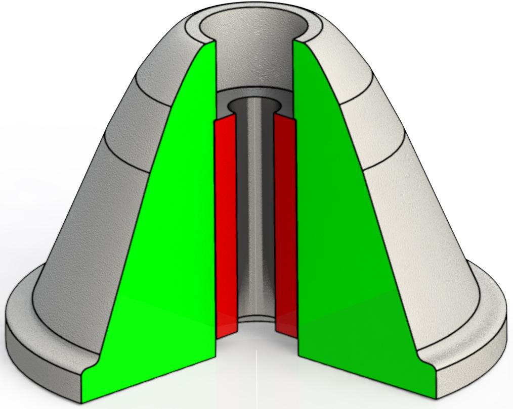 Пробка для флотомашины 330 диаметр