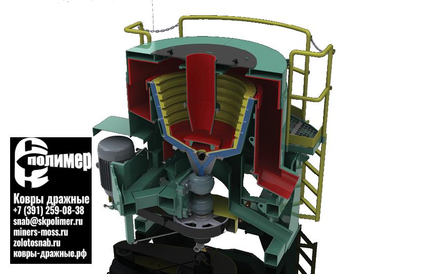 Резиновая втулка прежимного клапана на центробежные концентраторы Knelson непрерывной разгрузки