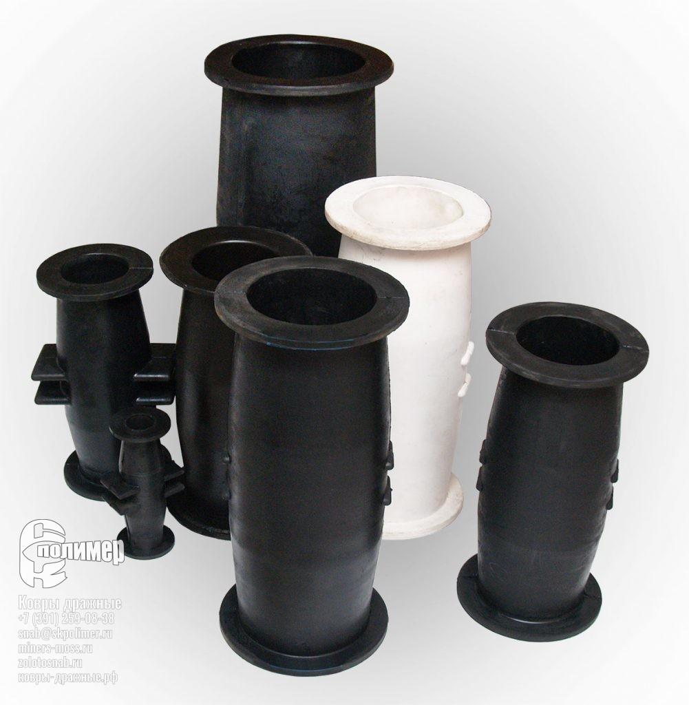 Патрубки резиновые / полиуретановые и Шланговые задвижки