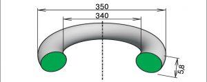 Кольцо 340-350-58