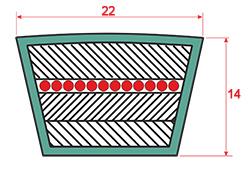 Ремень приводной клиновый С(В)-5000 сечением 22_14мм