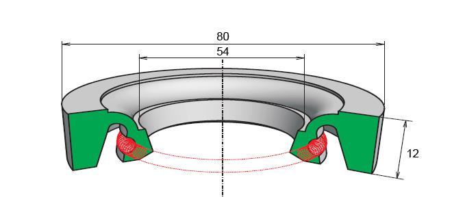 Уплотнения дражные резиновые