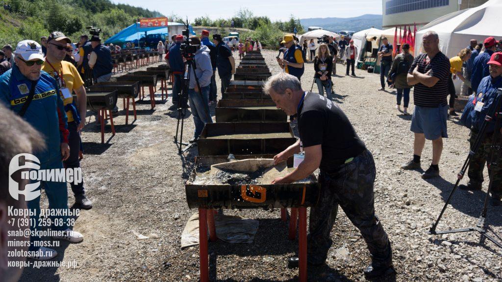 Лотки старательские от СК-Полимер в процессе золотодобычи в магаданской области на старательском ФАРТЕ