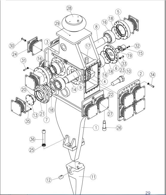 чертеж амортизатора антивибрационного